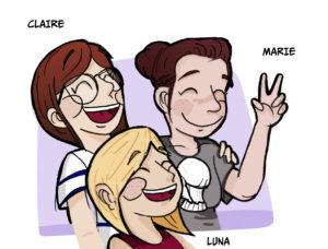 Claire, Marie, Luna