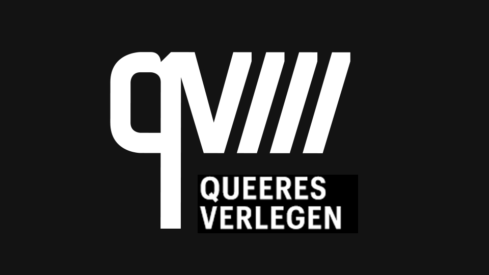 Logo Queeres Verlegen, festival du livre queer, feministe et anti-raciste de Berlin, édition 2019