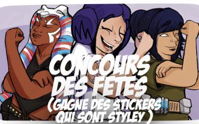 Concours des fêtes : Gagne des stickers styley !